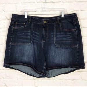 Lane Bryant Denim Front Pocket Plus Size Shorts 18